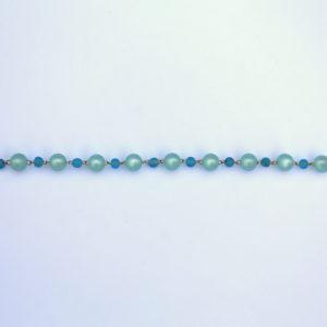 Bracelet perles Polaris bleues Hanaya bijoux artisanaux de la créatrice Véronique Rident, Valence, Drôme.