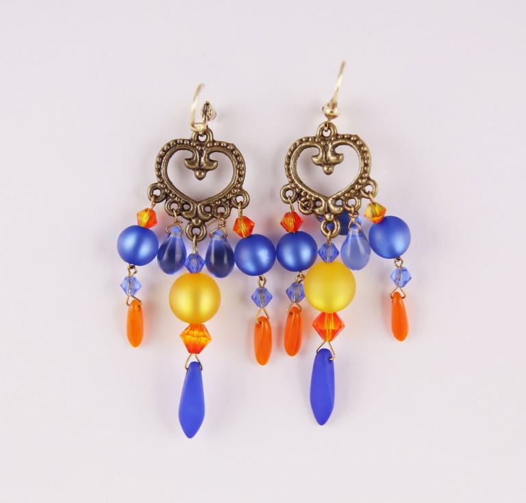 Boucles d'oreilles Hanaya-bijoux en perles Polaris et SWAROVSKI® ELEMENTS.