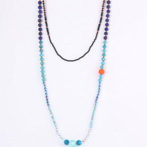 Collier Hanaya Bijoux pierres gemmes et perles Swarovski®, par Véroniqiue Rident, créatrice à Valence, Drôme.