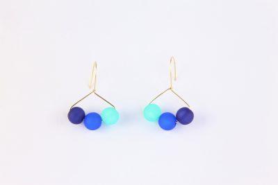 Triolet 1/2 cercle, Polaris, bleues & turquoise