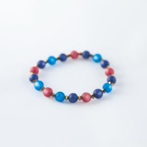 Bracelet en perles Polaris rose et bleues