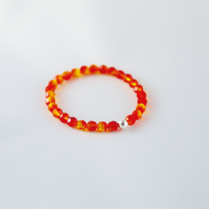 Bracelet en perles SWAROVSKI ELEMENTS® orange