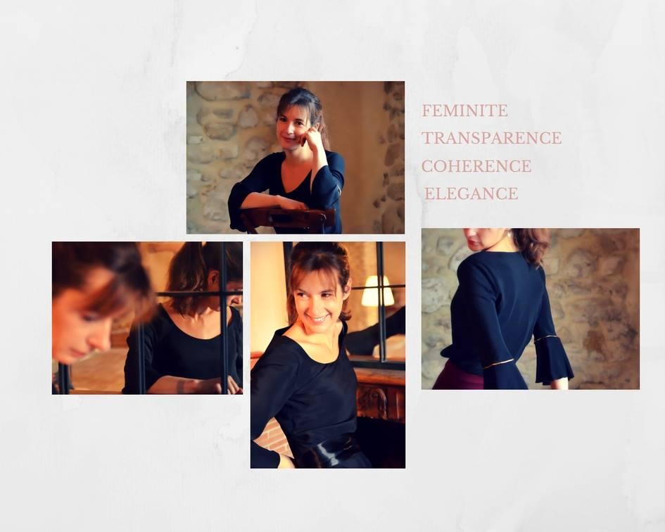 Véronique Rident, créatrice des bijoux Hanaya à Valence, reçoit et encourage Soyeuse.