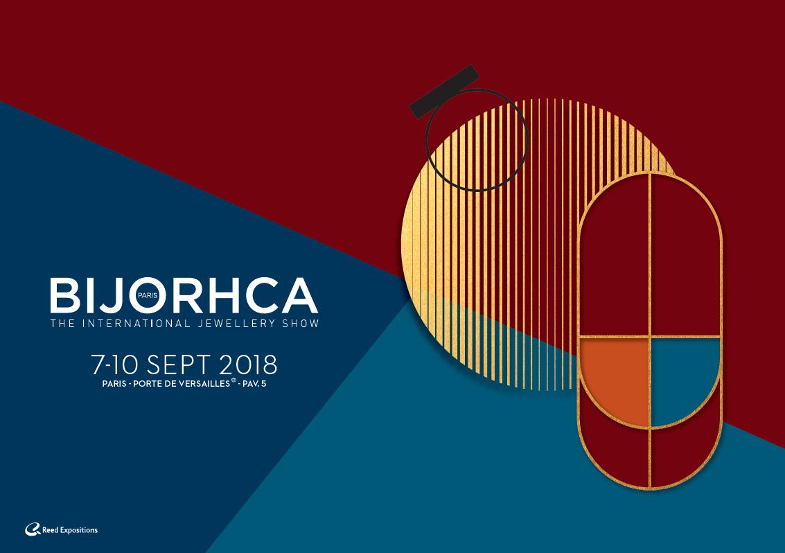 Véronique Rident, créatrice des bijoux Hanaya, à Valence, s'est rendue à Bijorhca les 7 et 8 septembre 2018.