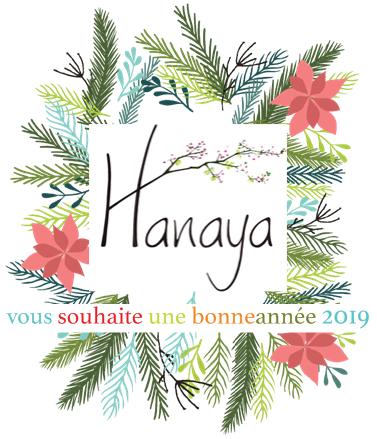 voeux de bonne année 2019 d'Hanaya, des bijoux qui fleurissent les femmes, par Véronique Rident, créatrice de bijoux fantaisie haut de gamme à Valence.