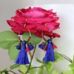 Boucles d'oreilles Hanaya Bijoux, créées par Véronique Rident, créatrice de bijoux à Valence, dans la Drôme.