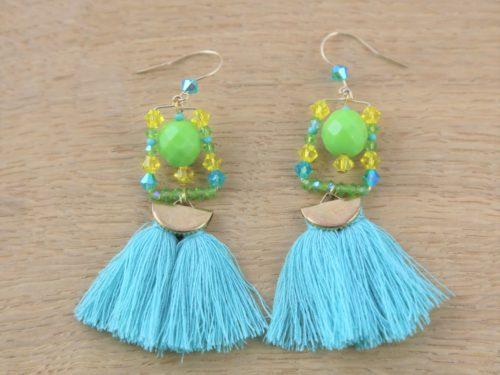 Boucles d'oreilles Hanaya Bijoux créées par Véronique Rident, à Valence avec des SWAROVSKI® ELEMENTS.